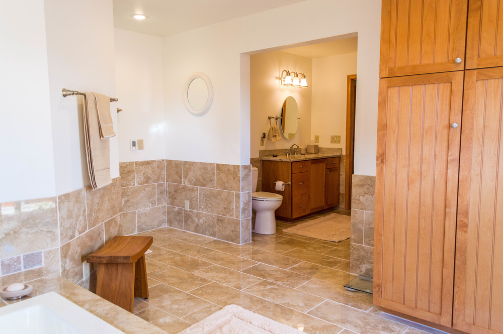 Completed remodeled bathroom