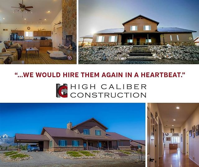 """Thank you, K. Waldrep, for the fantastic review! We loved building your home and are so happy you have fallen in love with it! ⠀ ⠀ """"High Caliber is a very appropriate name for this company. It is family owned and operated, and their clients soon feel like family as well. We hired them to build our 4800 sq. ft. home here in Flagstaff and they did an outstanding job! We designed the house ourselves, so while we had a set of plans from a draftsman, we did not have a full set of architectural plans. High Caliber had no problem in seeing what we wanted/needed and were very proactive in recommending any changes, alternatives or enhancements as needed. Their whole team was very professional, pleasant and it was a privilege to work with them and we would hire them again in a heartbeat. The house was finished on schedule and under budget and we love it."""" - K. Waldrep⠀ #hcnaz #highcaliberconstruction #flagstaffaz #sustainabledevelopment #heatedflooring #homeimprovement #commercialconstruction #homeconstruction #customkitchen #custombathroom #energyefficiency #homeremodel"""