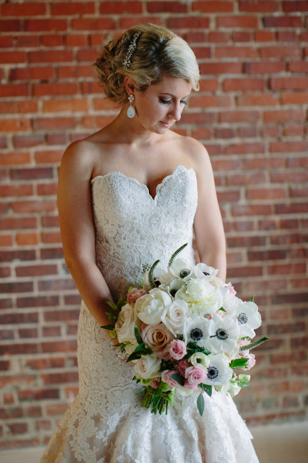 The Ceremony And Reception Were Held At Cotton Room In Downtown Durham This Converted Factory Turned Event Venue With Tall Brick Walls