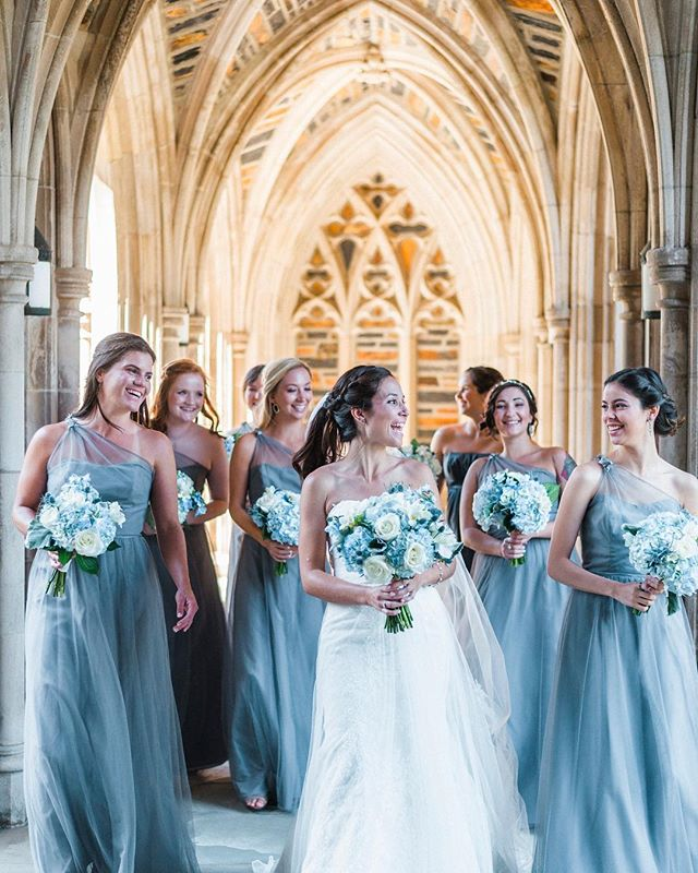It's hard to take a bad photo at Duke Chapel (@dukechapel), but they really come out stunning with Michelle and her beautiful bridesmaids and an amazing photographer (@kailey_faith).