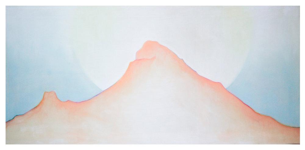 Arunachala, sucha pastela na płótnie, 66 x 140cm,  Natalia Giedryś