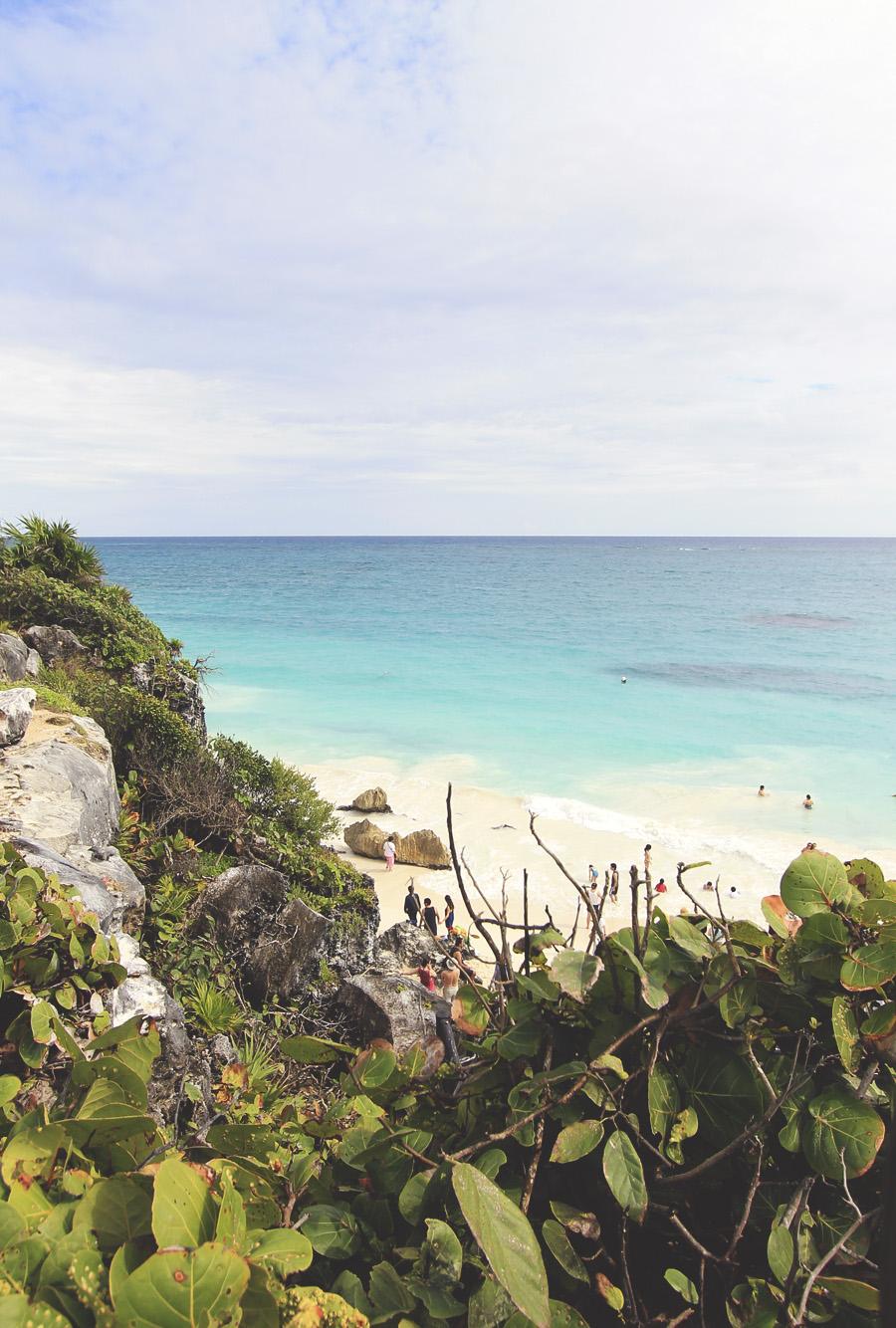 beach mexico tulum playa del carmen ruins