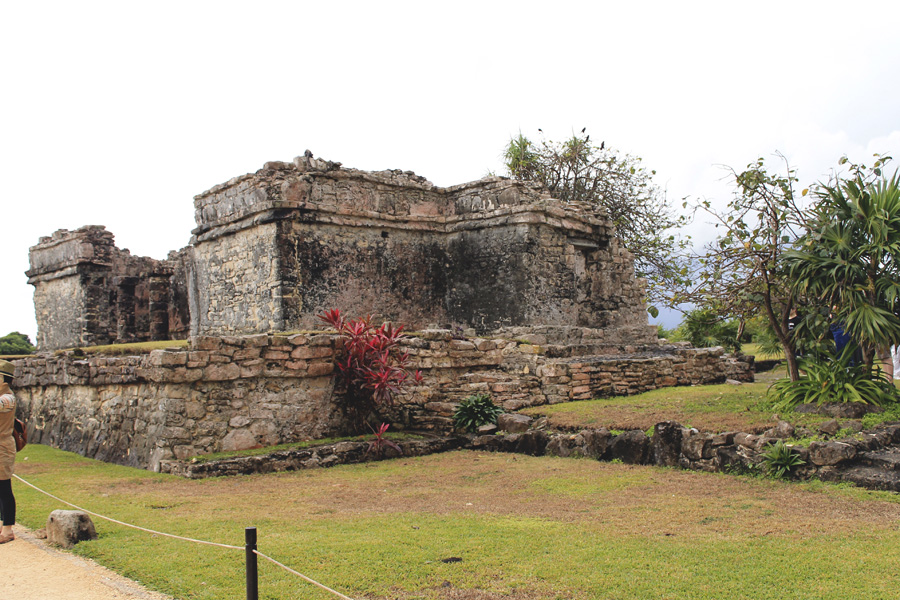 tropical mexican ruins mayan tulum stone