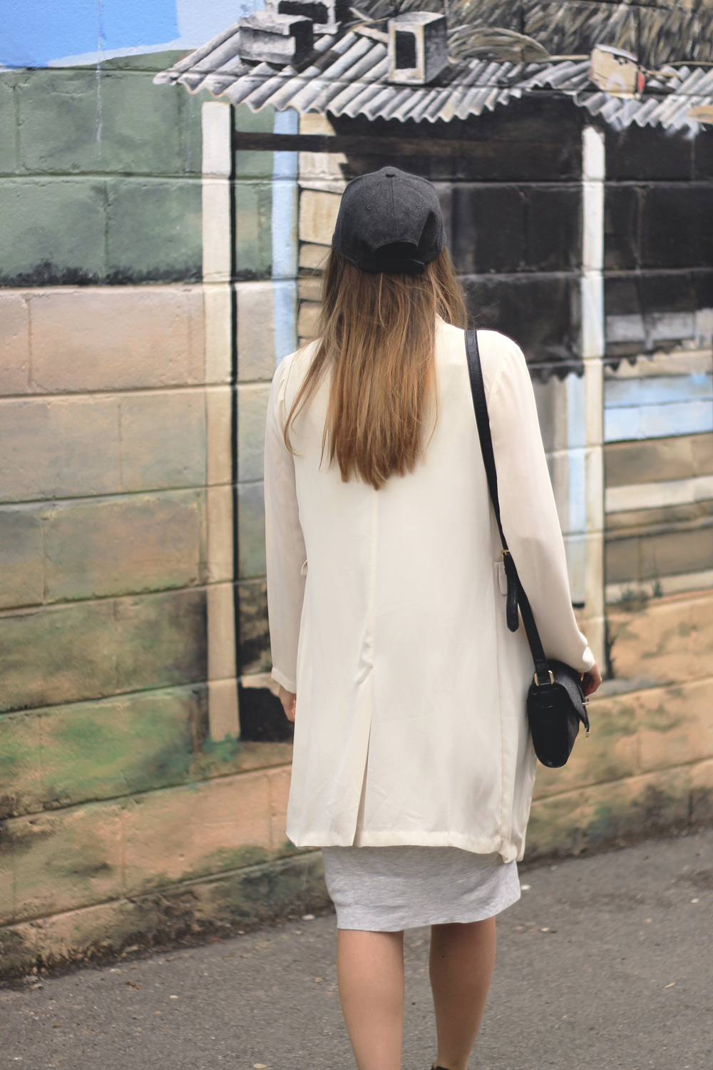 ombre hair long baseball hat jacket style blog