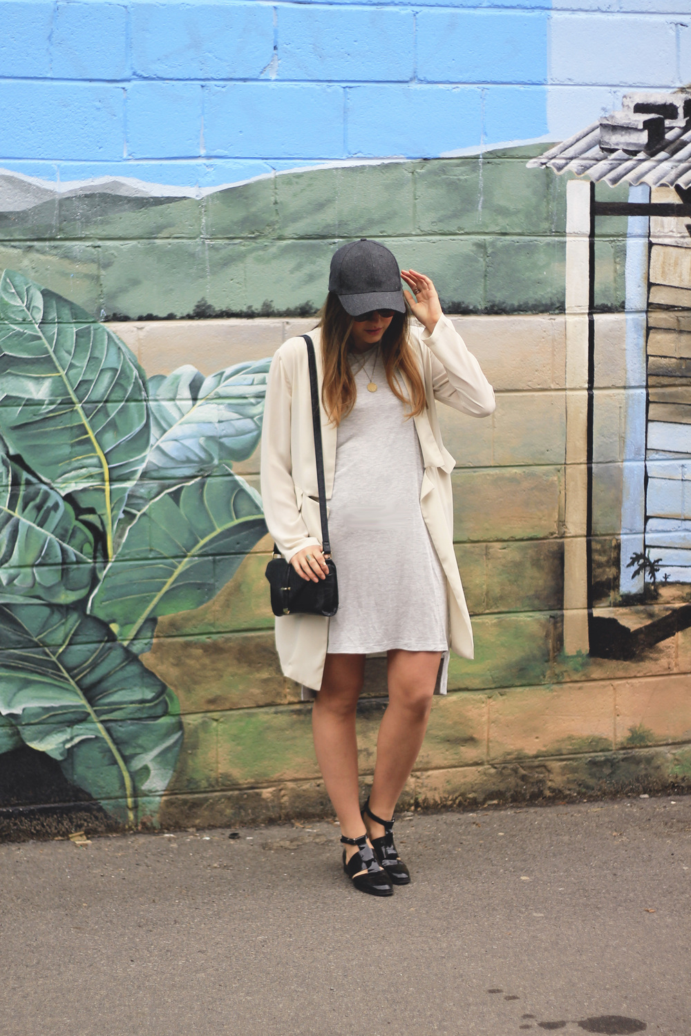 topshop patent booties and other stories cotton high low grey baseball hat
