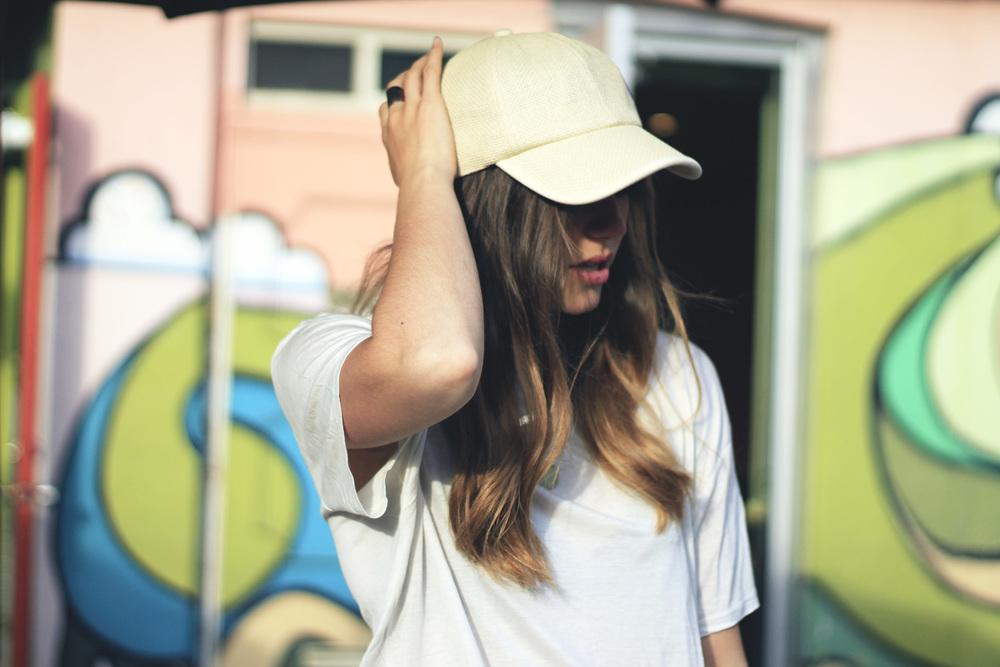 forever 21 tan straw raffia baseball cap hat