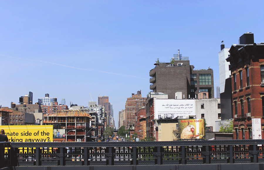 highline manhattan view west village summer city