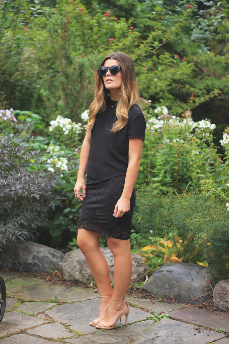 black-tartan-lace-skirt