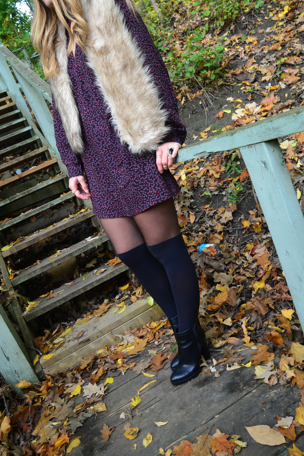 Urban Outfitters faux thigh high tights