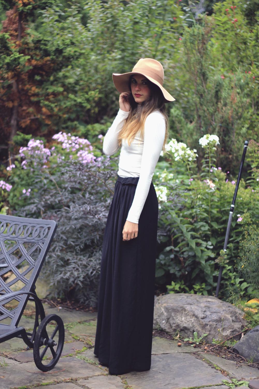 forever 21 tan floppy felt hat outfit garden