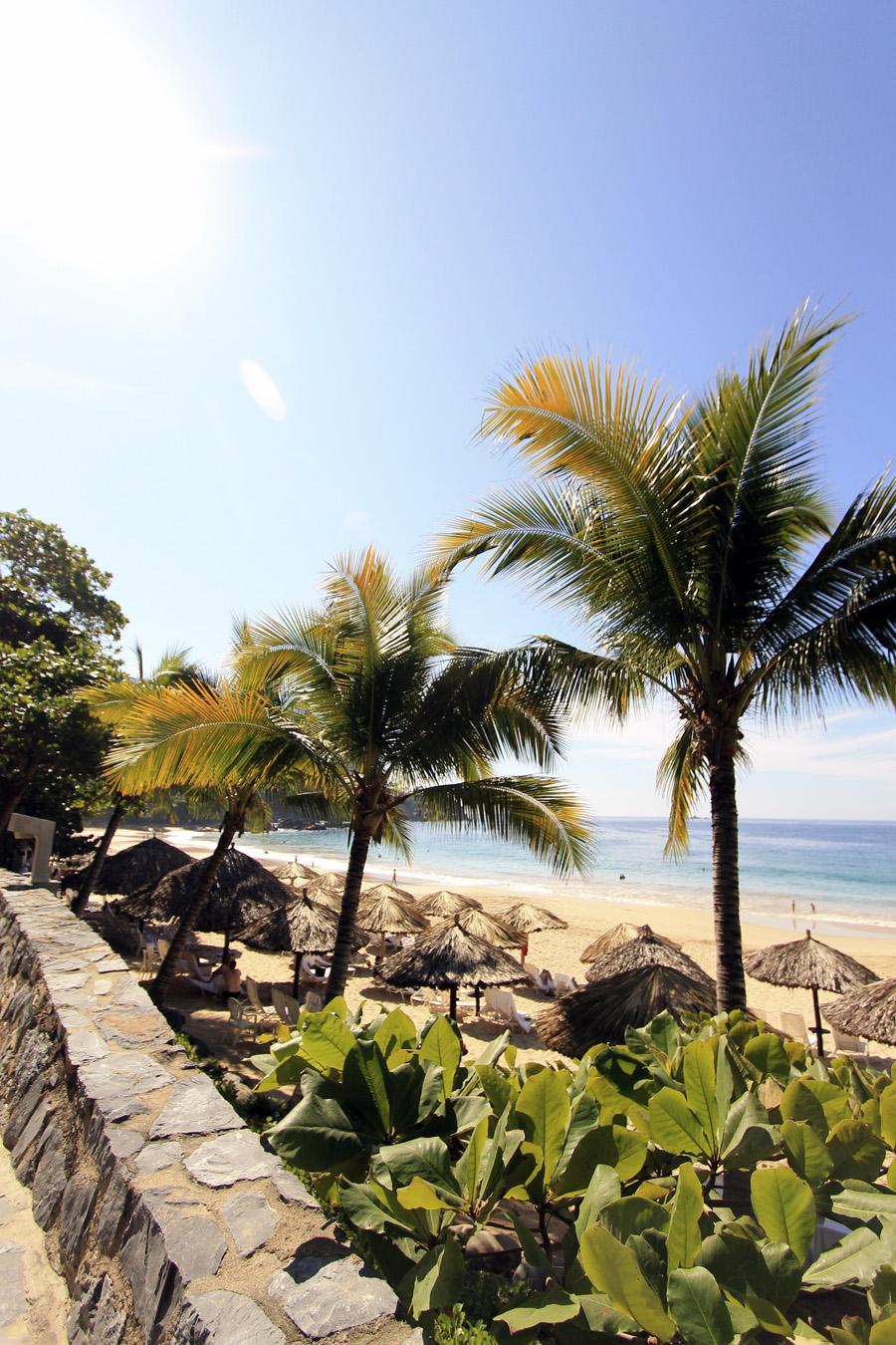 las brisas ixtapa zihuatenejo mexico beach huts ocean