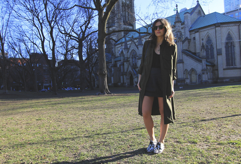 zara olive duster jacket
