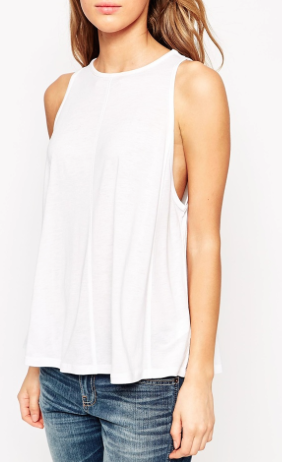 ASOS swing singlet with drape grey