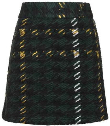 Green & Yellow Plaid Skirt