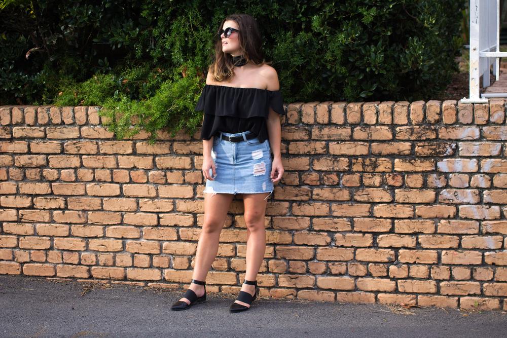 black-chiffon-topshop-bardot-top-highwaist-denim-skirt-fashion-bloggers-goodasgold.jpg