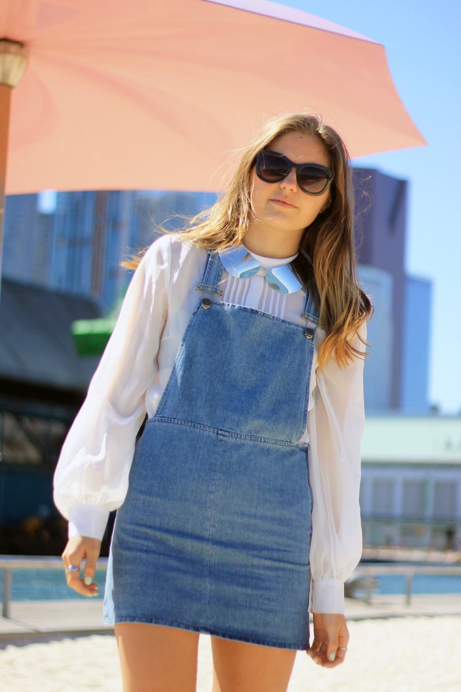 topshop denim clean pini dress