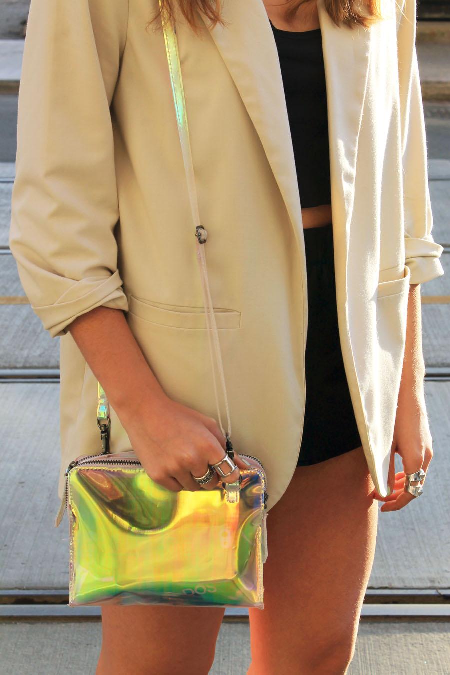 hologram purse h&m style