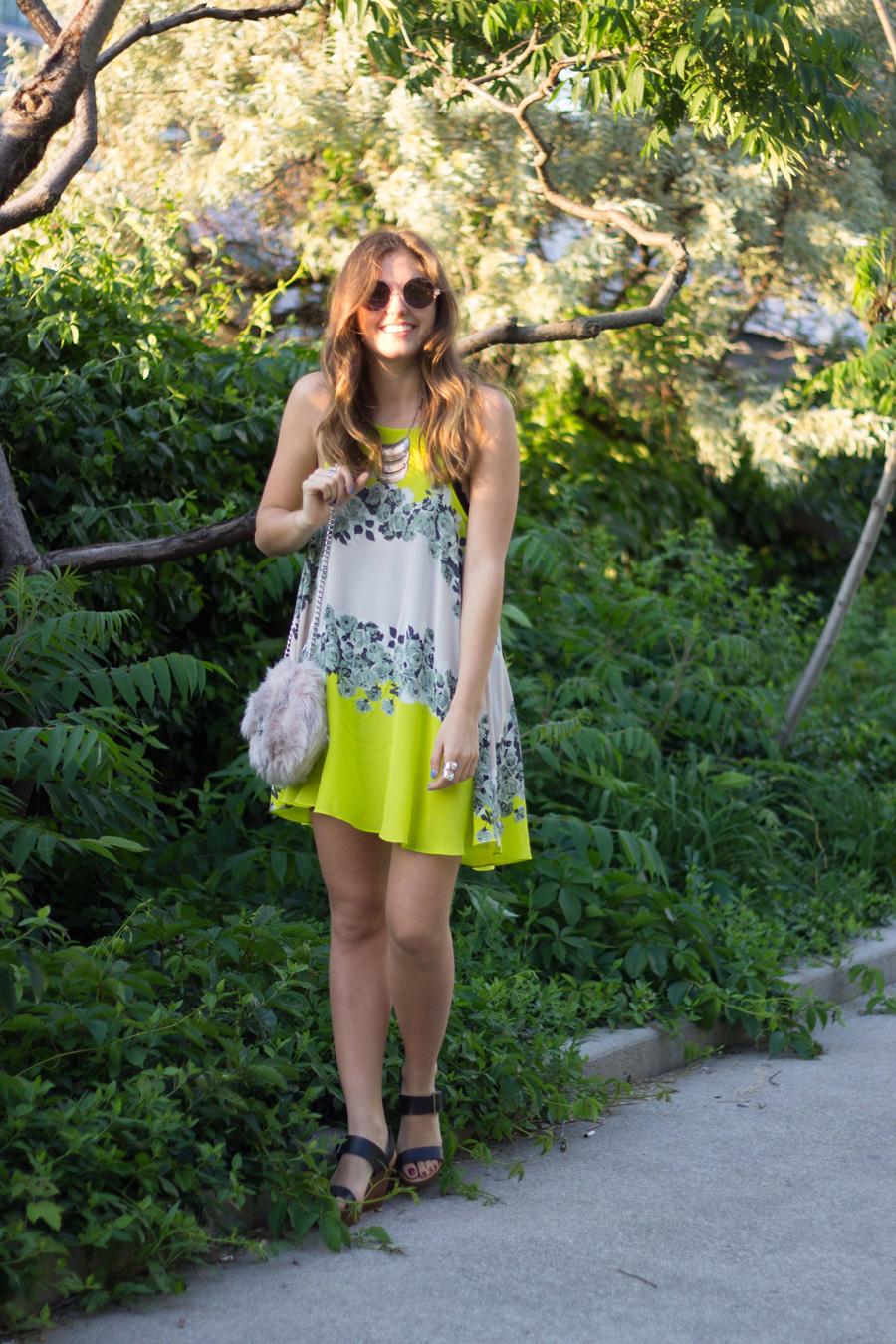 blush acid bloom dress