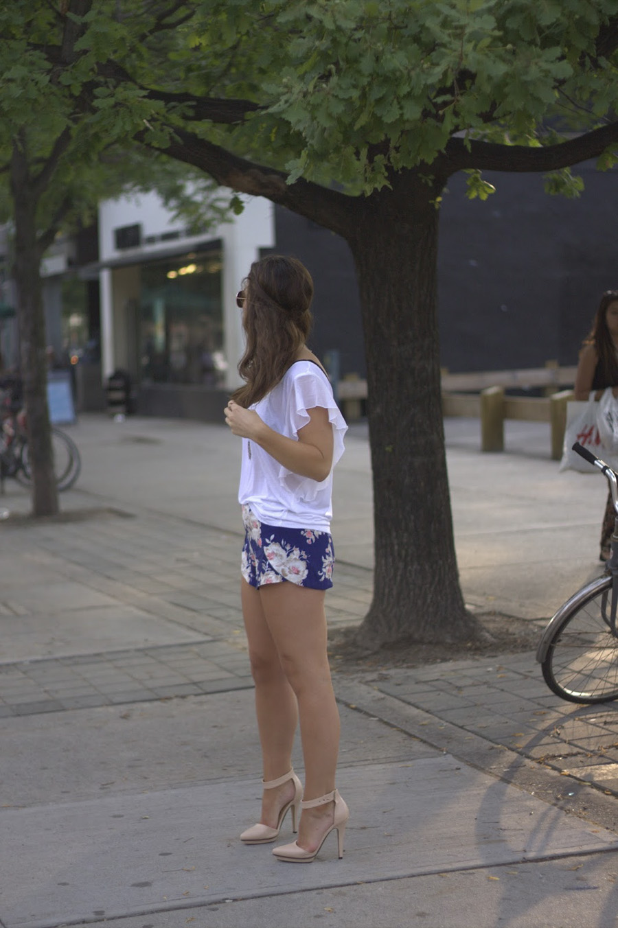 floral forever 21 shorts