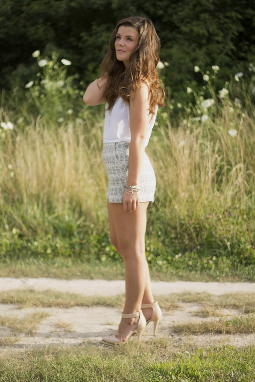 pastel textured shorts