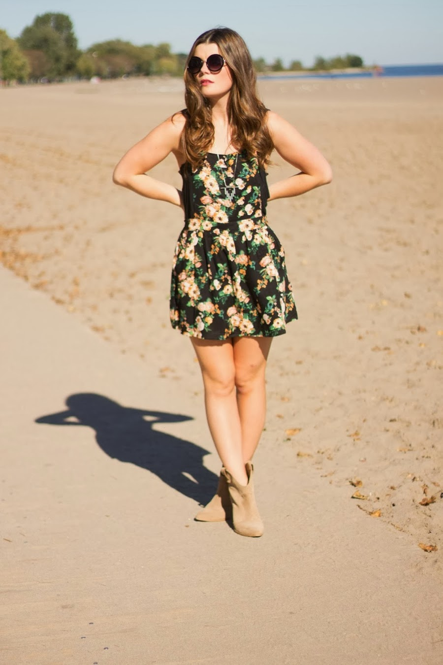 sixties, sunglasses, retro, topshop, floral dress, forever 21