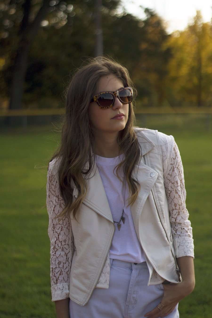 kenneth cole lace blazer white