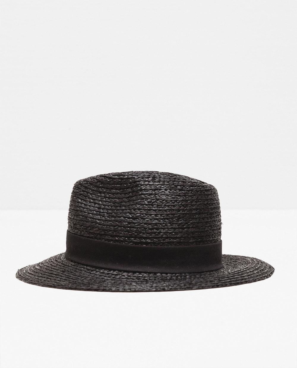 zara black straw hat beach.jpg