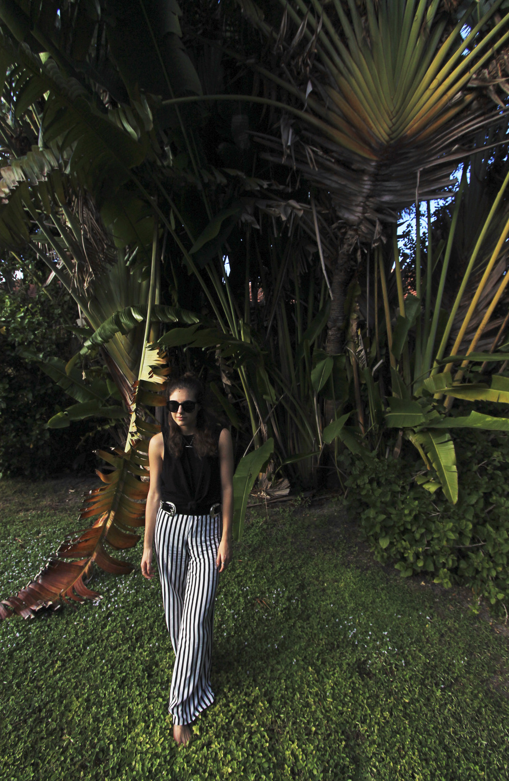 miami palm trees style outfit black and white stripes.jpg