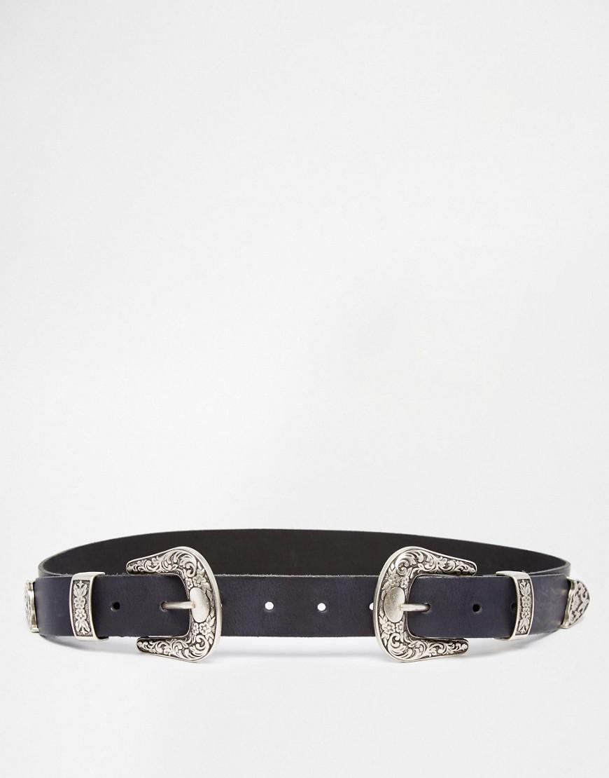ASOS Leather Double Buckle Western Waist And Hip Belt.jpg