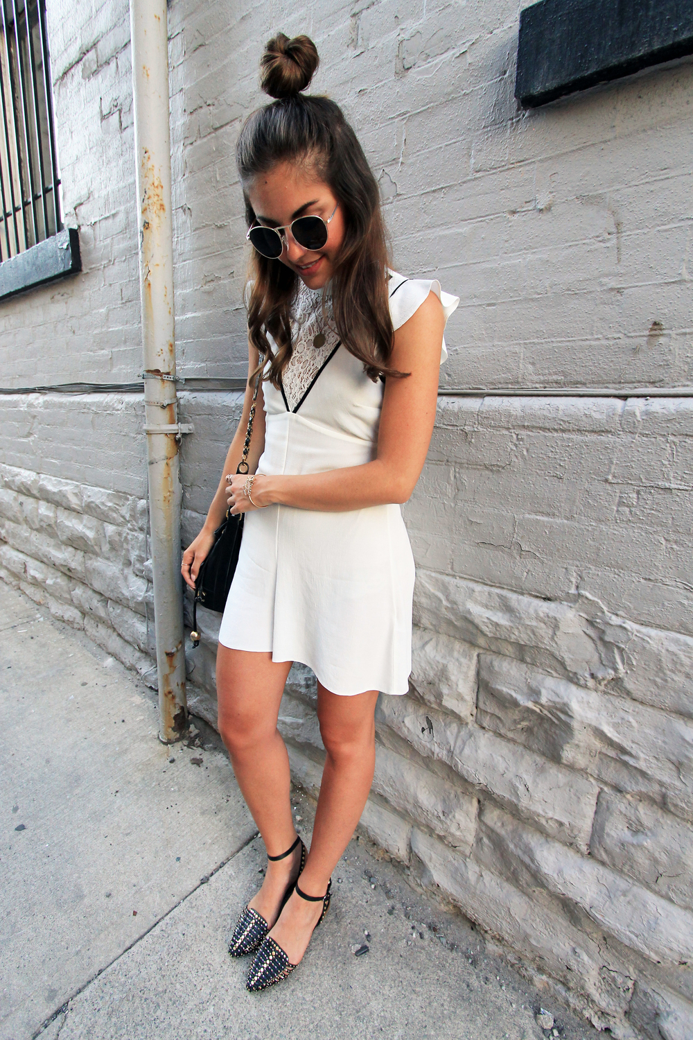 ASOS lace insert high neck playsuit outfit white.jpg