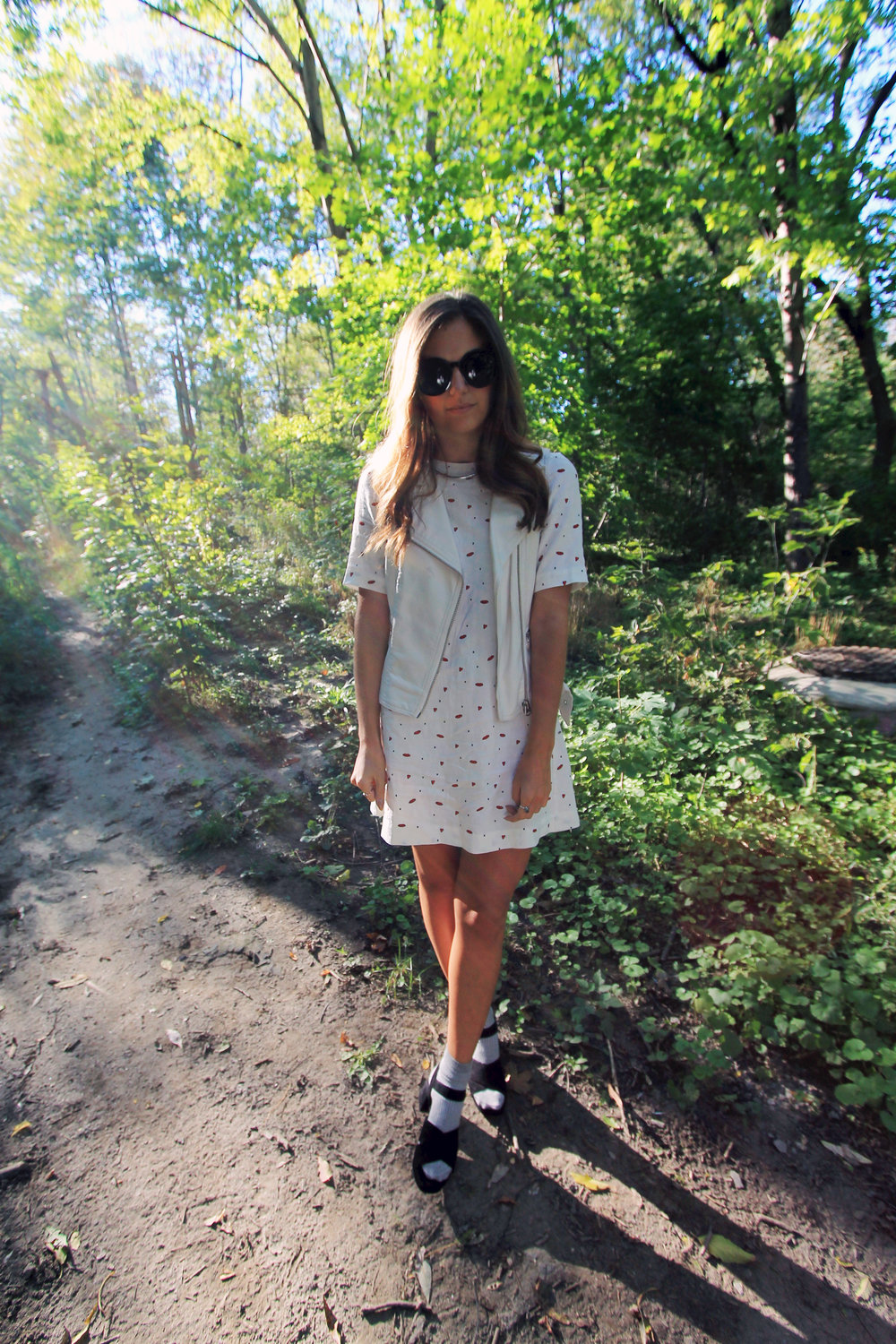 toronto canada style blogger outfit dress vest.jpg