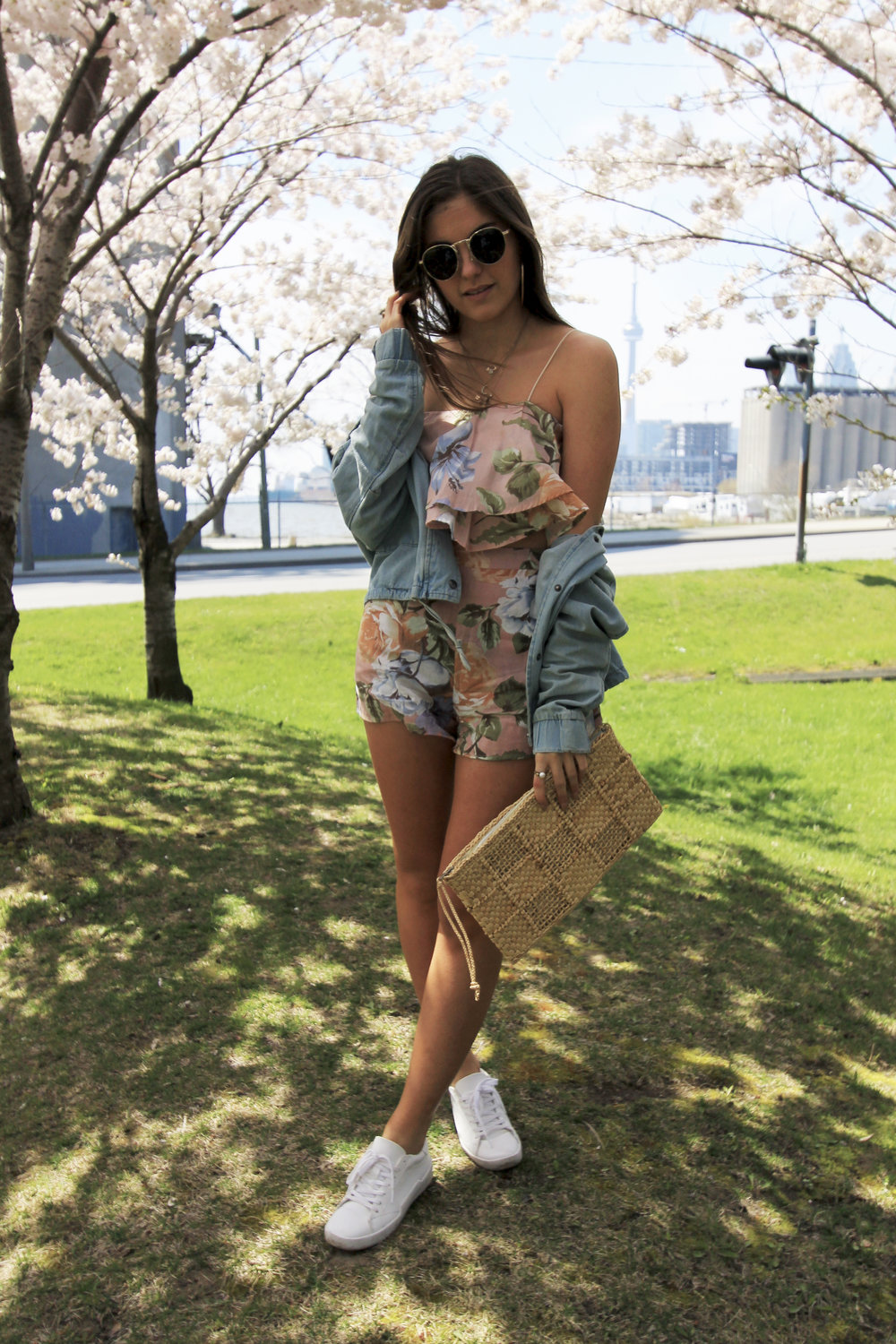 spring toronto outfit cherry blossoms floral pink blue.jpg