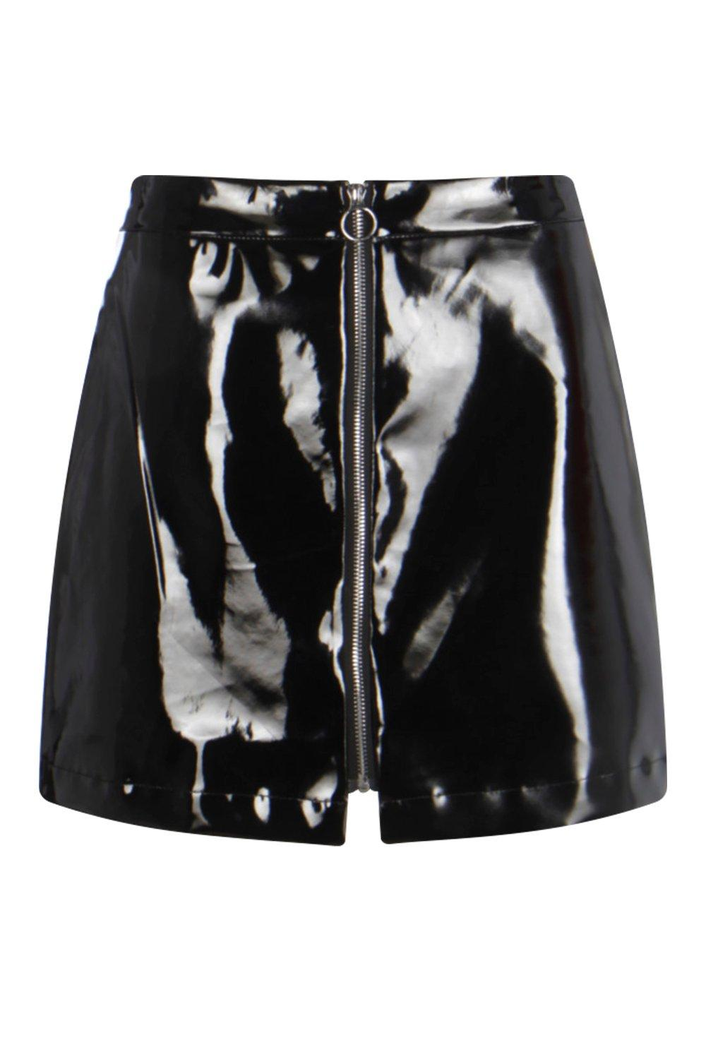 Vinyl mini skirt, boohoo.com $35