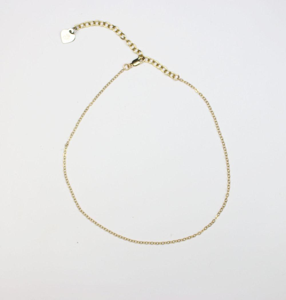 IMLVH-Baby gold chain choker, byimlvh.com $30