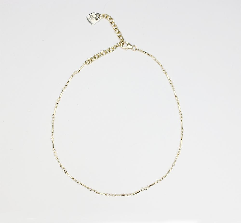 IMLVH-Lumi gold chain choker, byimlvh.com $40