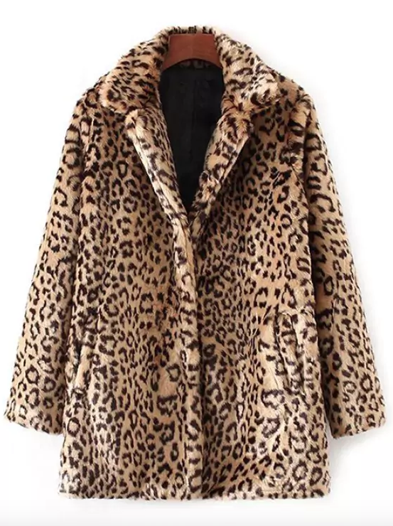 LEOPARD FAUX FUR - Animal prints are a classic and currently trending! Try pairing this with an all black outfit for a chic look or a tee and jeans to take it to the next level.