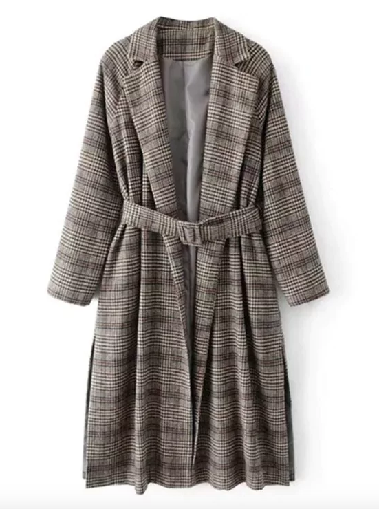 CHECK PRINT - Probably the biggest trend of the moment, the check print coat is the easiest way to look stylish especially worn with over the knee boots!