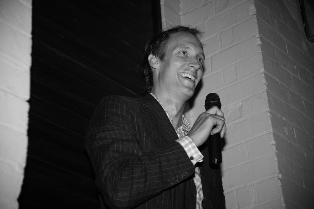 Jules Hall at The Hallway's launch event in 2007