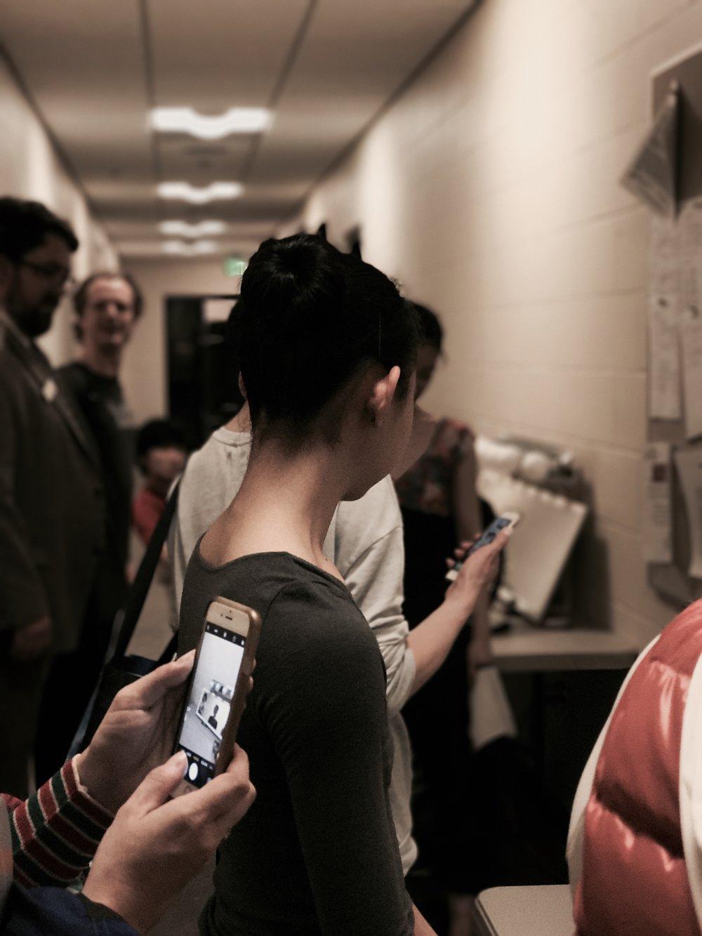 Dancers backstage.