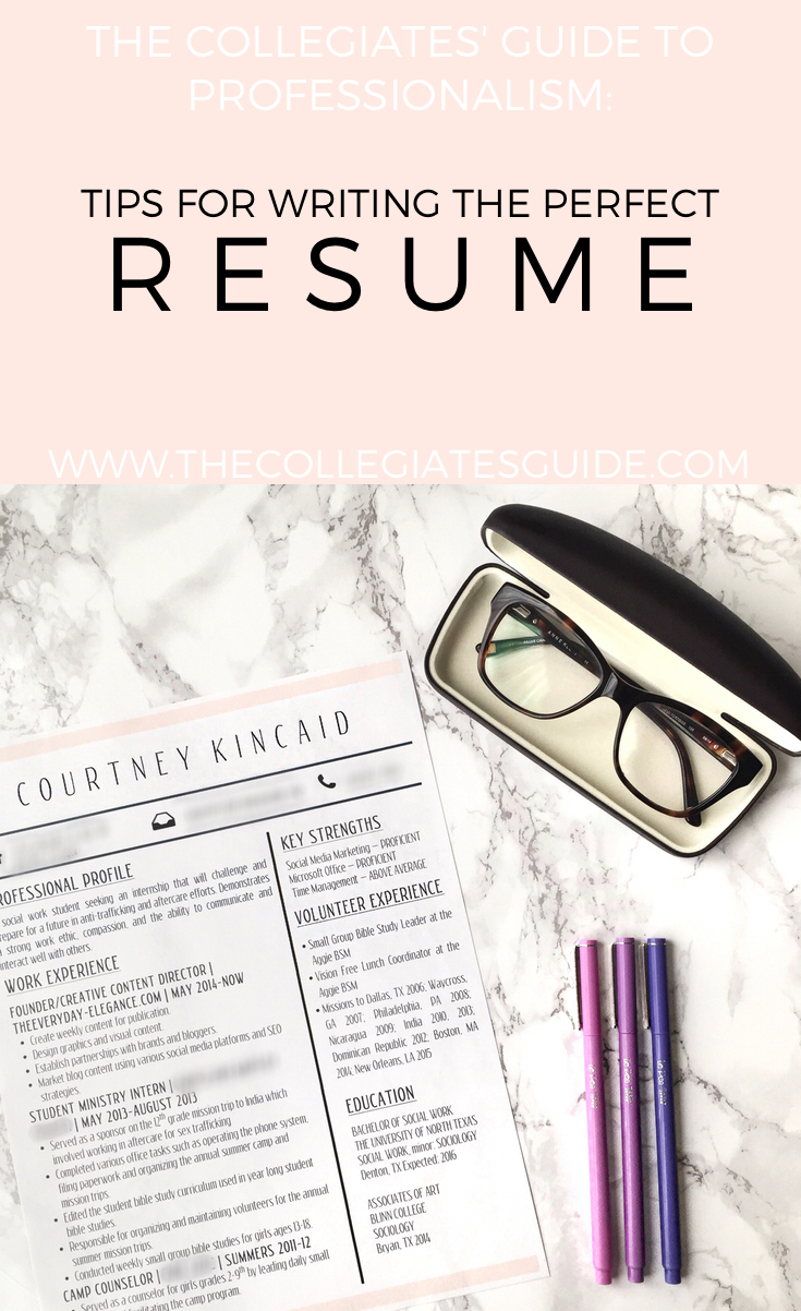the collegiates guide to professionalism how to write a killer resume