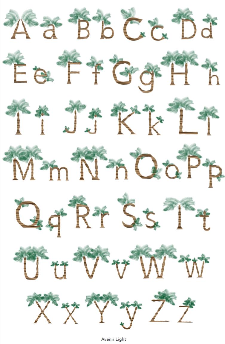 Illustrative Alphabet  Adobe Illustrator
