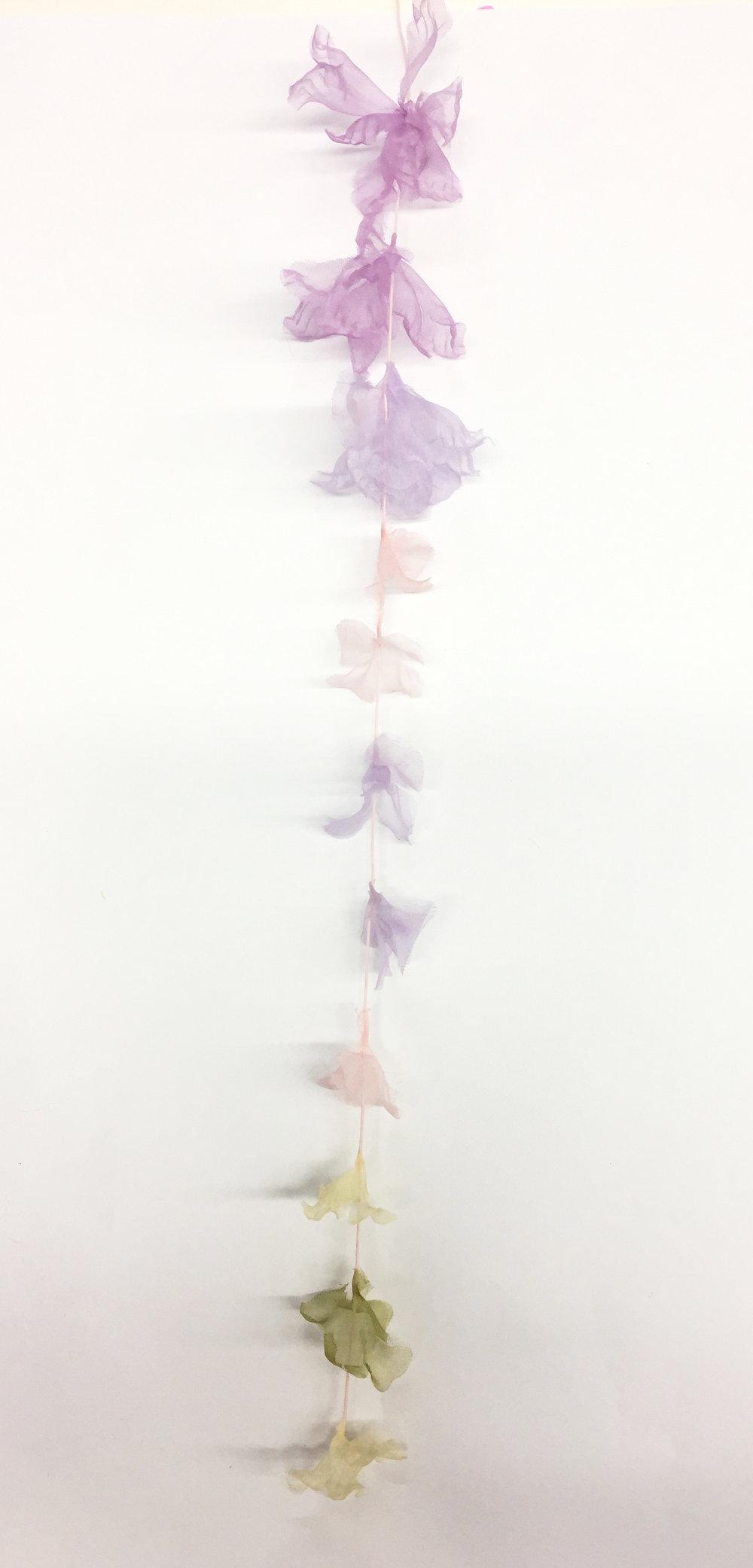 Design development for wisteria flower SS18