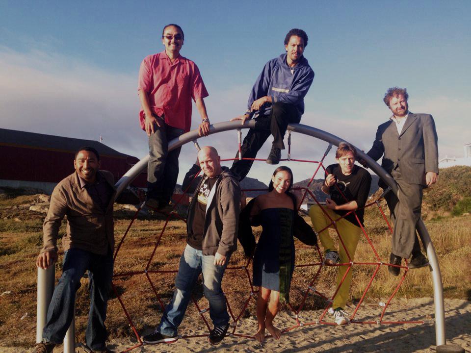 Stephen, Ossie, Nikolaj, Phillip, Karina, Anders & Kristoffer (Sisimiut, Greenland I think)