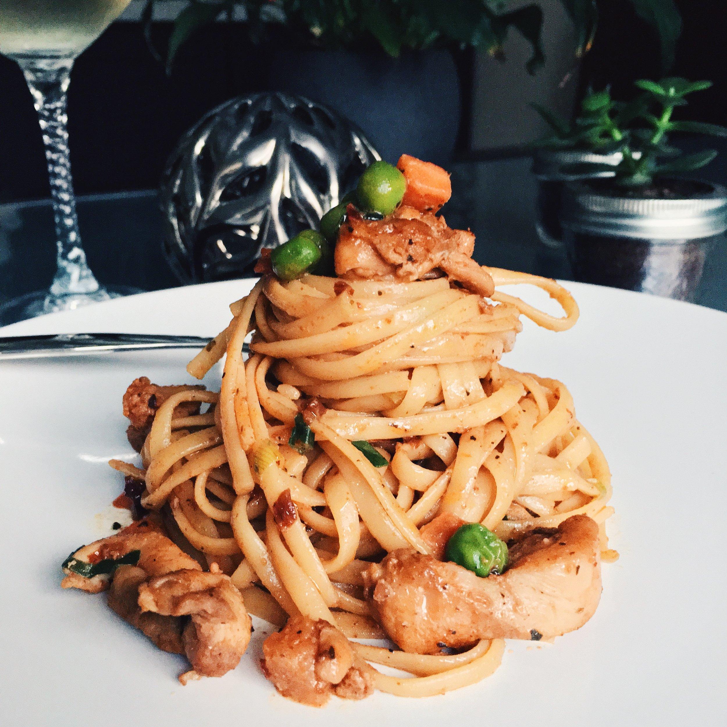 Recipe cajun chicken pasta christie at home for Hook fish chicken cincinnati oh