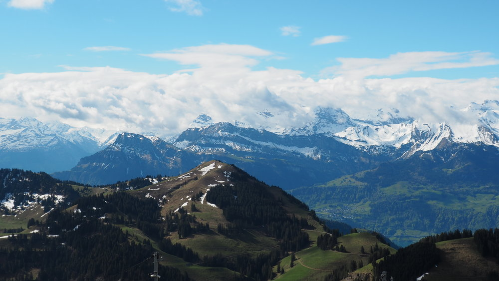 A raw and unedited photo of the view from Mount Rigi-Klum