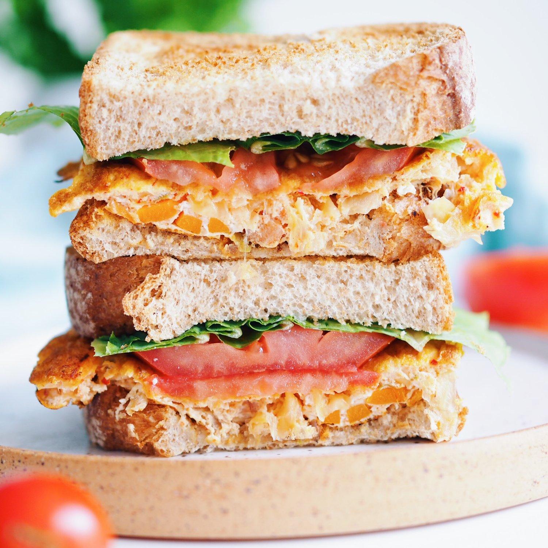 Kimchi+egg+sandwich