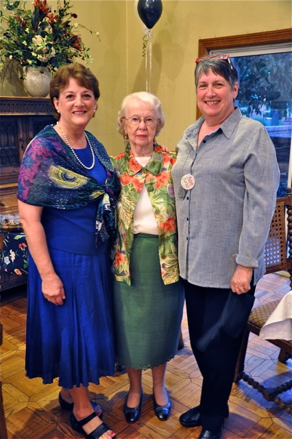 NCG 30th Anniversary. Sheryl Bracey, Betty Gilpin, and Barb Bartels.