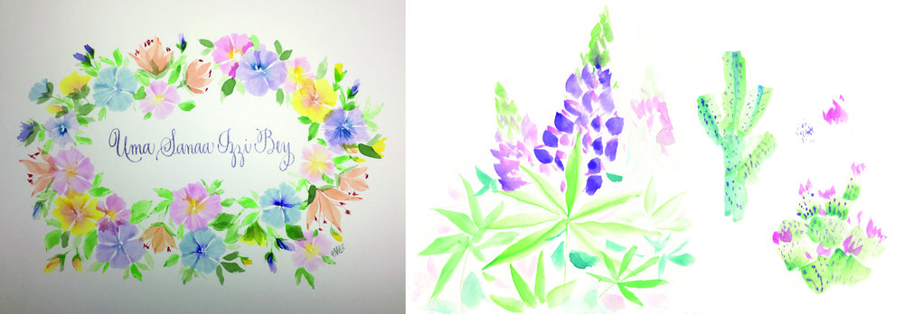 Lupine and Cactus Study