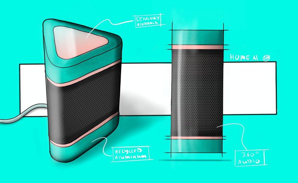 Home AI Speaker Concept