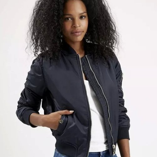 SEXY WOMENS MA1 AVIATOR QUILTED BOMBER JACKET - LEMI SEXY WOMENS MA1 AVIATOR QUILTED BOMBER JACKET